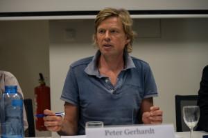 Peter Gerhardt bei Podiumsdiskussion Foto: Christine Denck (Rettet den Regenwald e.V.)
