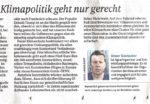 Gastbeitrag im Weserkurier über erfolgreiche Klimapolitik